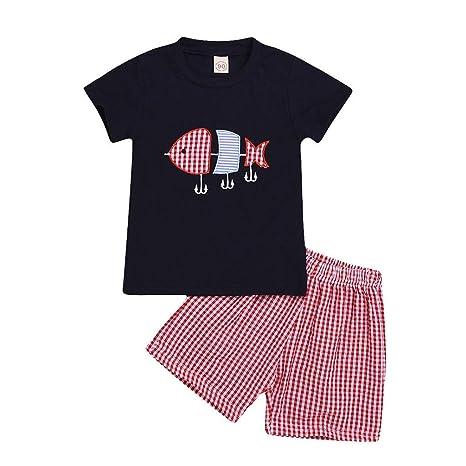Mealeaf - Pijamas de Manga Corta para bebé (12 M-5 años ...
