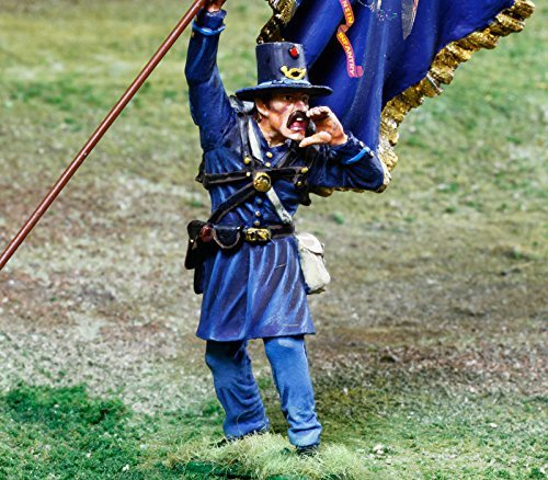Civil War Toy Soldiers 2nd Wisconsin Iron Brigade Infantry Battle of Gettysburg Figure Collectors Showcase Toy Soldiers Painted Metal Figure 1/32 Britains King Country Gunn First Legion Type ()