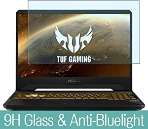 """Synvy Anti Blue Light Tempered Glass Screen Protector for ASUS TUF Gaming FX505 / FX505DD / fx505dy / fx505dt / fx505dv / fx505du / fx505gd / fx505gm 15.6"""" Visible Area Film Protectors"""