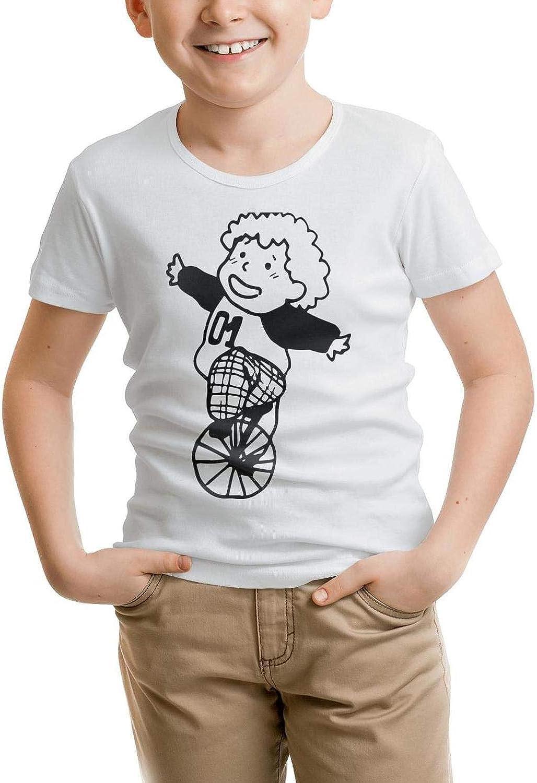 absolutemi Riding a Single Wheelbarrow Cottont-Shirt Crew Neck forYoung Shirt Lovely Parttern