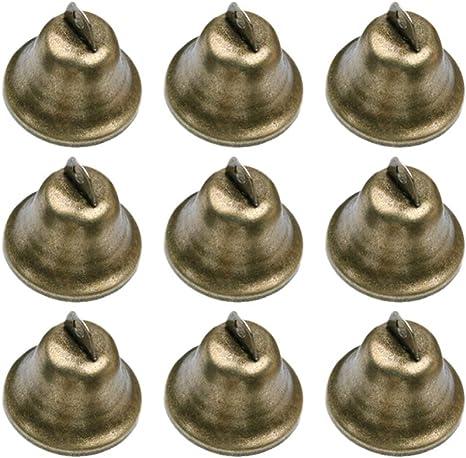 Supvox 10 st/ücke Messing Glocken Kupfer Glocken Vintage Jingle Bells Handwerk Glocken weihnachtsdekoration Glocken f/ür Windspiel Keychain Charme Machen