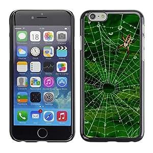 TopCaseStore / la caja del caucho duro de la cubierta de protección de la piel - Nature Spider Web - Apple iPhone 6