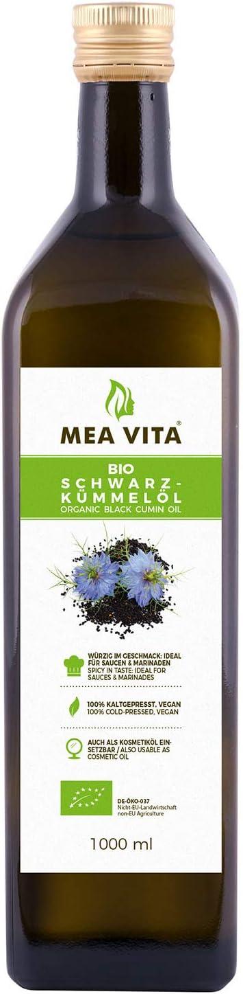 Meavita Aceite De Comino Negro Orgánico Meavita, Prensado En Frío, Paquete De 2 (2 X 500Ml) 1000 ml