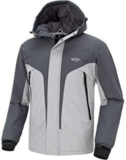 8f1981410ce2 Wantdo Men s Windproof Ski Fleece Jacket Waterproof Rainwear Casual Parka  Insulated Winter Coat with Hood