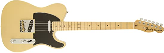 side facing fender american special telecaster electric guitar