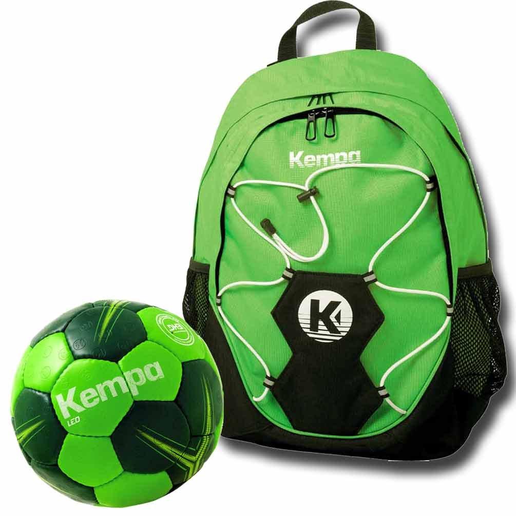 TALLA Rucksack + Handball Größe 0. Kempa–Mochila con pelota Red verde + balonmano tamaño 012o 3