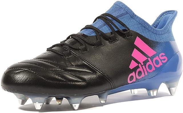 adidas X 16.1 Leather SG Homme Chaussures Football Noir Bleu