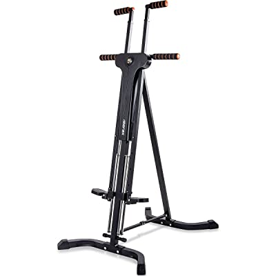 Merax Vertical Climber Fitness Climbing Cardio Machine Full Total Body Workout Fitness Folding Climber 2.0