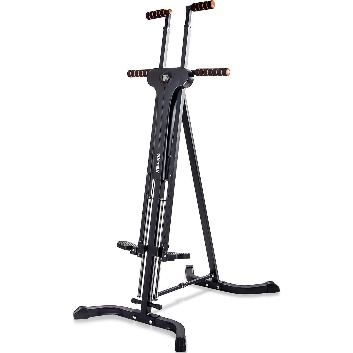 Merax Vertical Climber Fitness Climbing Cardio Machine Full Total Body Workout Fitness Folding Climber 2.0 (Black)