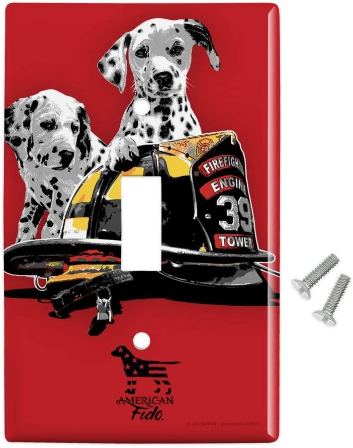 Amazon Com Graphics More Dalmatian Dogs Firefighter Fire Helmet Plastic Wall Decor Toggle Light Switch Plate Cover Furniture Decor