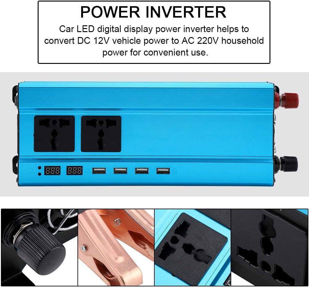 1000W Zerodis Convertisseur Automatique de Voiture DC 12V /à 220V CA avec 4 USB et Affichage Num/érique LED Convertisseur Voiture Convertisseur de Tension