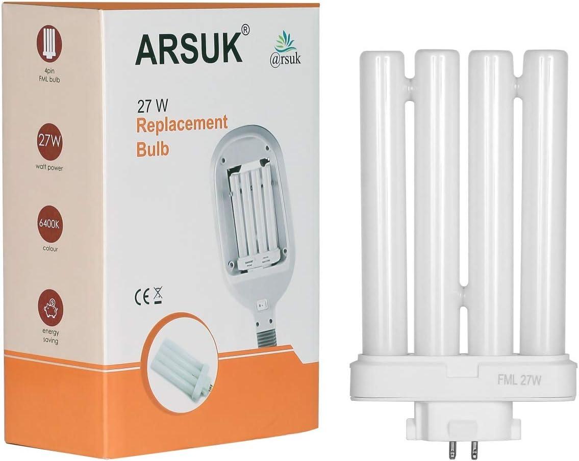 ARSUK Bombilla fluorescente de recambio (27 W, luz natural) [Clase de eficiencia energética A+++] (27W Bombilla de repuesto): Amazon.es: Iluminación