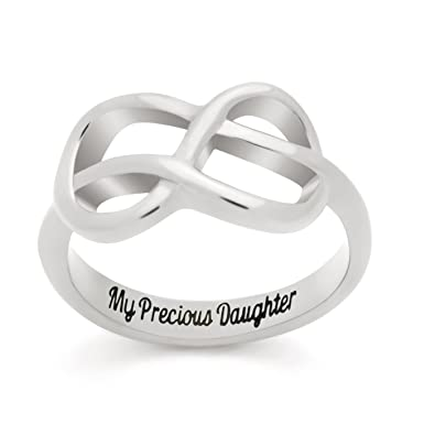 Amazon Infinity Ring For Daughter Double Infinity Ring