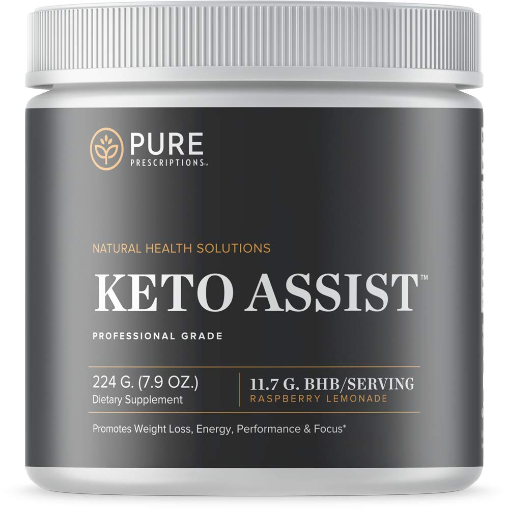 Pure Prescriptions Keto Assist - Exogenous Ketone Powder Supplement - Ketogenic Diet Formula for Energy, Focus and Fat Burn - Beta-Hydroxybutyrate (BHB) Salts - Raspberry Lemonade