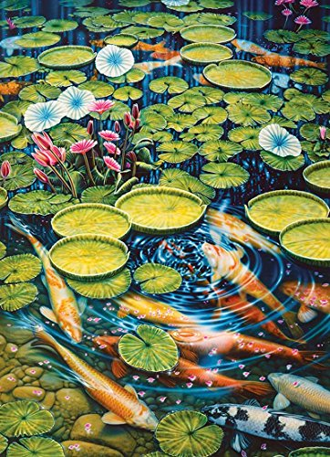 COBBLE HILL Koi Pond Jigsaw Puzzle (1000 Piece)