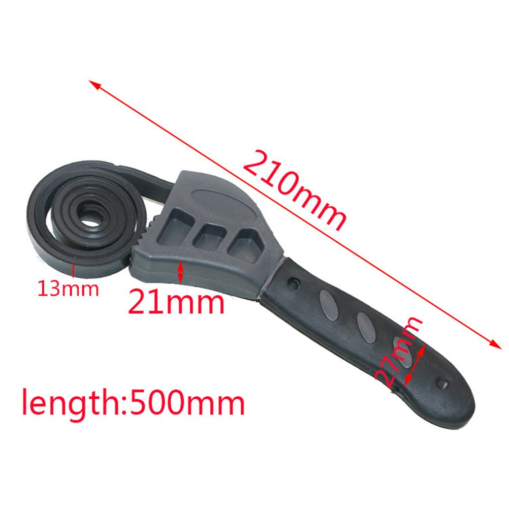 ukcoco 2/in 1/Multi-functional 500/mm Ratchet Wrench with Adjustable Rubber Strap Bottle Opener Auto Car Oil Filter Wrench Repair Tools Hand