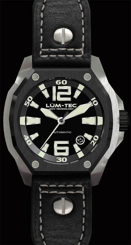 lum-tec V7 Armbanduhr - Schwarz Stahl V-Series