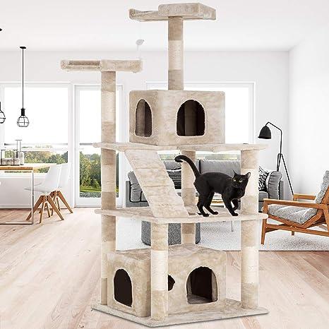 Amazon.com: Dkeli Árbol de gato torre gato condo gato ...