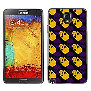 iKiki-Tech Estuche rígido para Samsung Galaxy Note 3 N9000 - Orange Skull