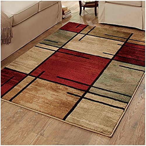 """Better Homes & Gardens Spice Grid Rouge Olefin Area Rug (7'10""""x10'10"""", Red) from Better Homes & Gardens"""
