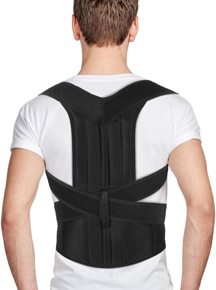 Férulas para Espalda para Hombres y Mujeres, Enderezador de Espalda con Correas Ajustables, Corrector Postura Espalda, Alivio del Dolor de Espalda, Hombro, Lumbar, Mejora de Malas Posturas (L:3