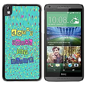 PC/Aluminum Funda Carcasa protectora para HTC DESIRE 816 Touch My Phone Hands Off Text / JUSTGO PHONE PROTECTOR