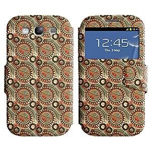 LEOCASE rueda dentada Funda Carcasa Cuero Tapa Case Para Samsung Galaxy S3 I9300 No.1002603
