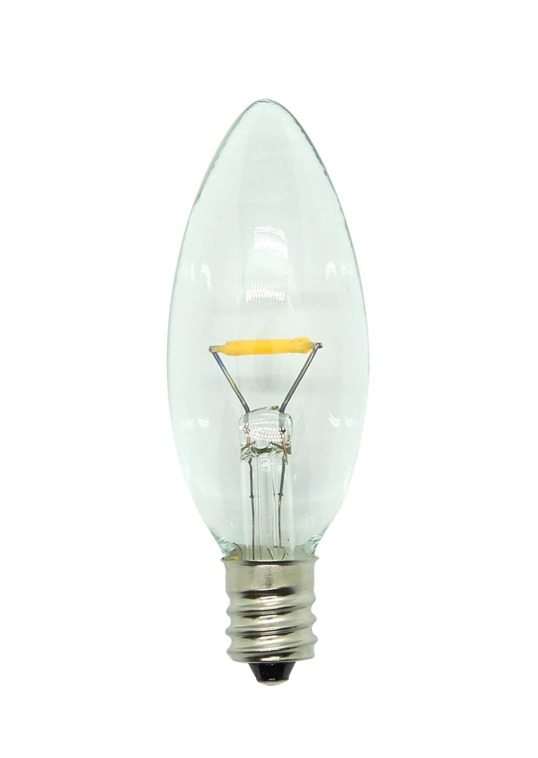 Celestial Lights Six LED Window Candle Replacement Bulbs for Plug-in Window Candles or Switch Models Timer Works with All Sensor