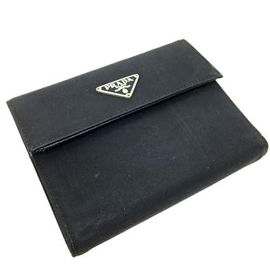 b0c4d6e58d5b (プラダ) PRADA 三角ロゴプレート 三つ折り財布 ナイロン/サフィアーノレザー メンズ 中古