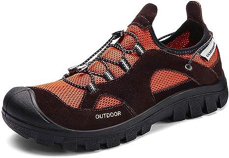 Mouwa Zapatos De Seguridad para Caminatas para Hombres, Zapatillas De Deporte Antideslizantes para Caminar, Caminar, Acampar, Zapatillas De Trail Running, Cómodas Y Desodorización,43: Amazon.es: Deportes y aire libre