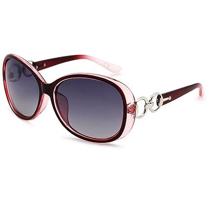 AMZTM Damen Brille Luxus überdimensioniert Polarisiert Trend Mode Frauen Sonnenbrille 1YwrJ09Ok