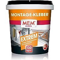 MEM Montagelijm Extreme, pasta-dispersielijm, hoge hechting en eindvastheid, voor verschillende ondergronden…