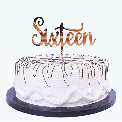 Amazon YUINYO Happy Birthday Cake Topper Rose Gold G Acrylic
