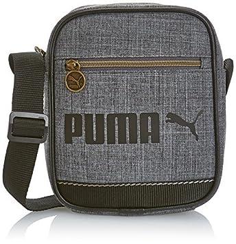 PUMA Campus Portable Messenger Shoulder Bag, Steel Grey   Black 18 x 21 x 6 398083db1f