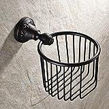 SSBY Black antique copper rolls of patterned tissue paper basket paper basket of toilet paper holder bathroom to wash basket