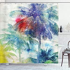 61n-zEcLSXL._SS300_ 200+ Beach Shower Curtains and Nautical Shower Curtains