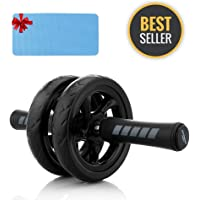 Ab Roller Wheel, Arespark Ab Wheel for Training - Home Exercise Equipment Perfect Workout Equipment for Abs - Heavy Duty Non-Slip Rubber Wheel - Foam Padded Performance Handles