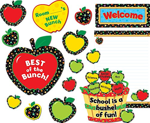 Creative Teaching Press Bulletin Board Set, Poppin' Patterns Back-to-School Apples (4711)
