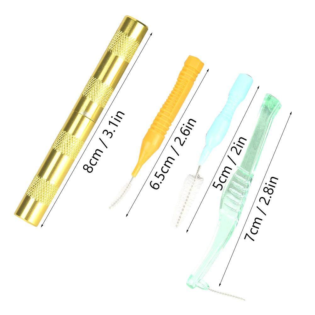 4pcs Spritzpistolen-Reinigungswerkzeug Spritzpistolen-Reinigungsreparatursatz f/ür die Pistolenreinigung