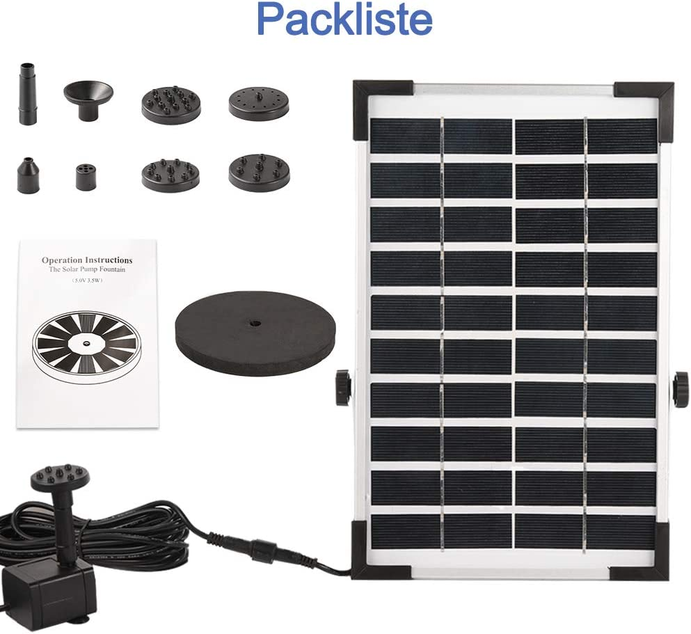Pond or Garden Decoration Solar Water Pump Floating Fountain Built ...
