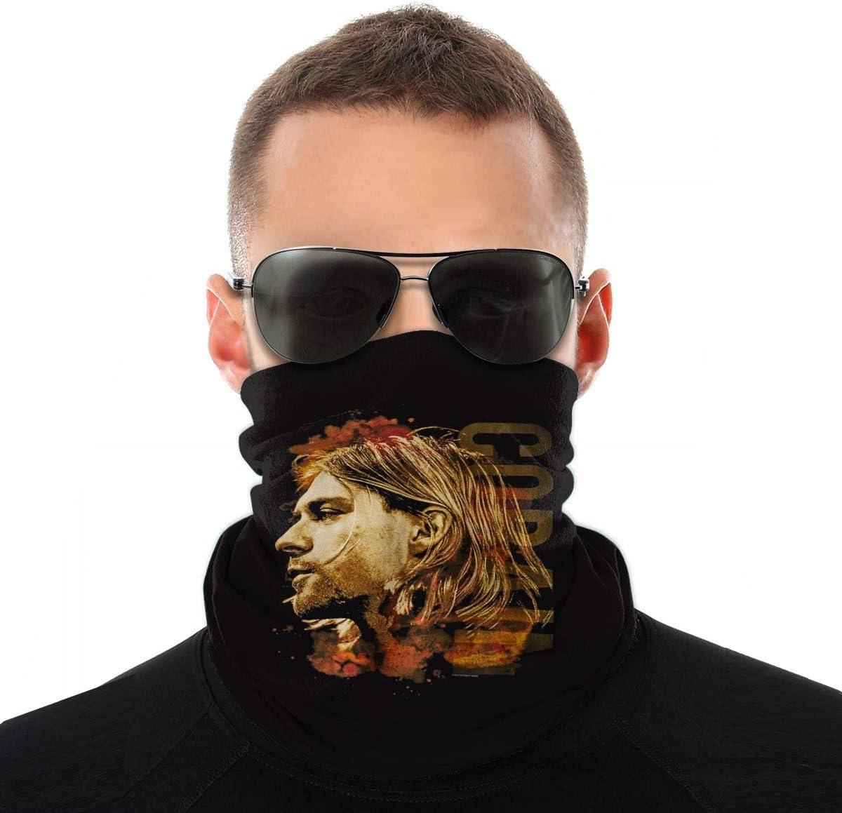 Kurt Cobain Turban Outdoor Seamless Variety Magic Turban Men and Women Turban Neck Windproof Sunscreen Bib