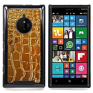 Leather Crocodile Luxury Luxurious Caja protectora de pl??stico duro Dise?¡Àado King Case For Nokia Lumia 830