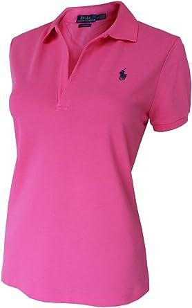 Ralph Lauren Volley Camisa de Polo T.L, Polo Flequillo, Fucsia ...