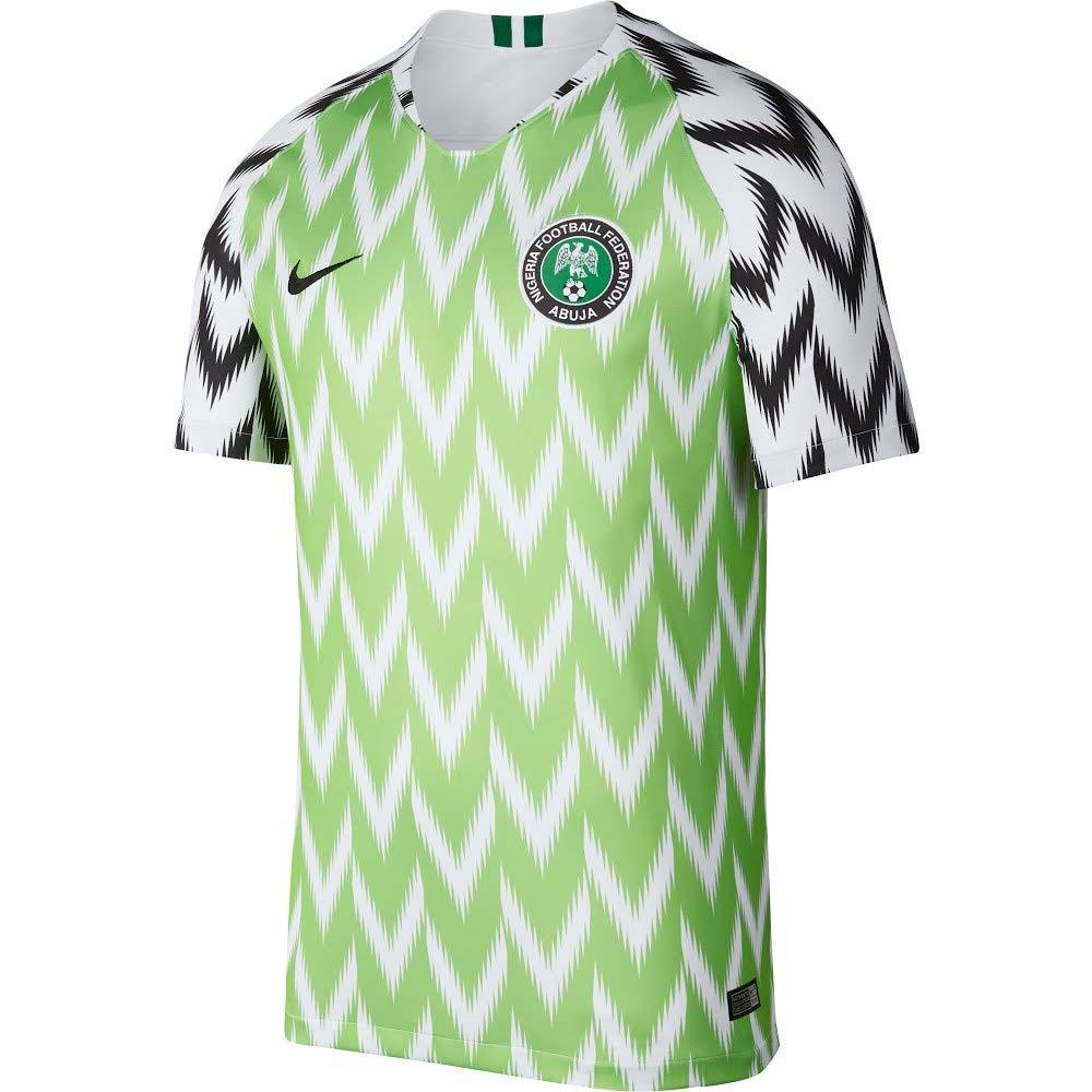 Abrumar Disco Cardenal  Buy Nike 2018-2019 Nigeria Home Football Soccer T-Shirt Jersey at Amazon.in