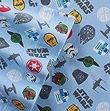Star Wars Scatter Print Flannel Twin Sheet Set
