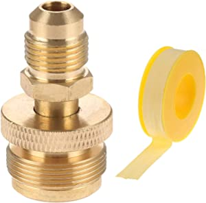 Timsec 1LB Portable Propane Tank Cansiter Regulator Adapter, Brass Fitting with 3/8