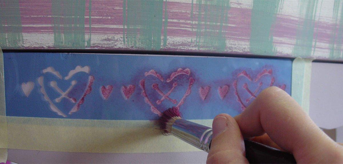 redondo, N.01, pelo de cerda Pincel para plantillas color gris Fleur Paint 90975