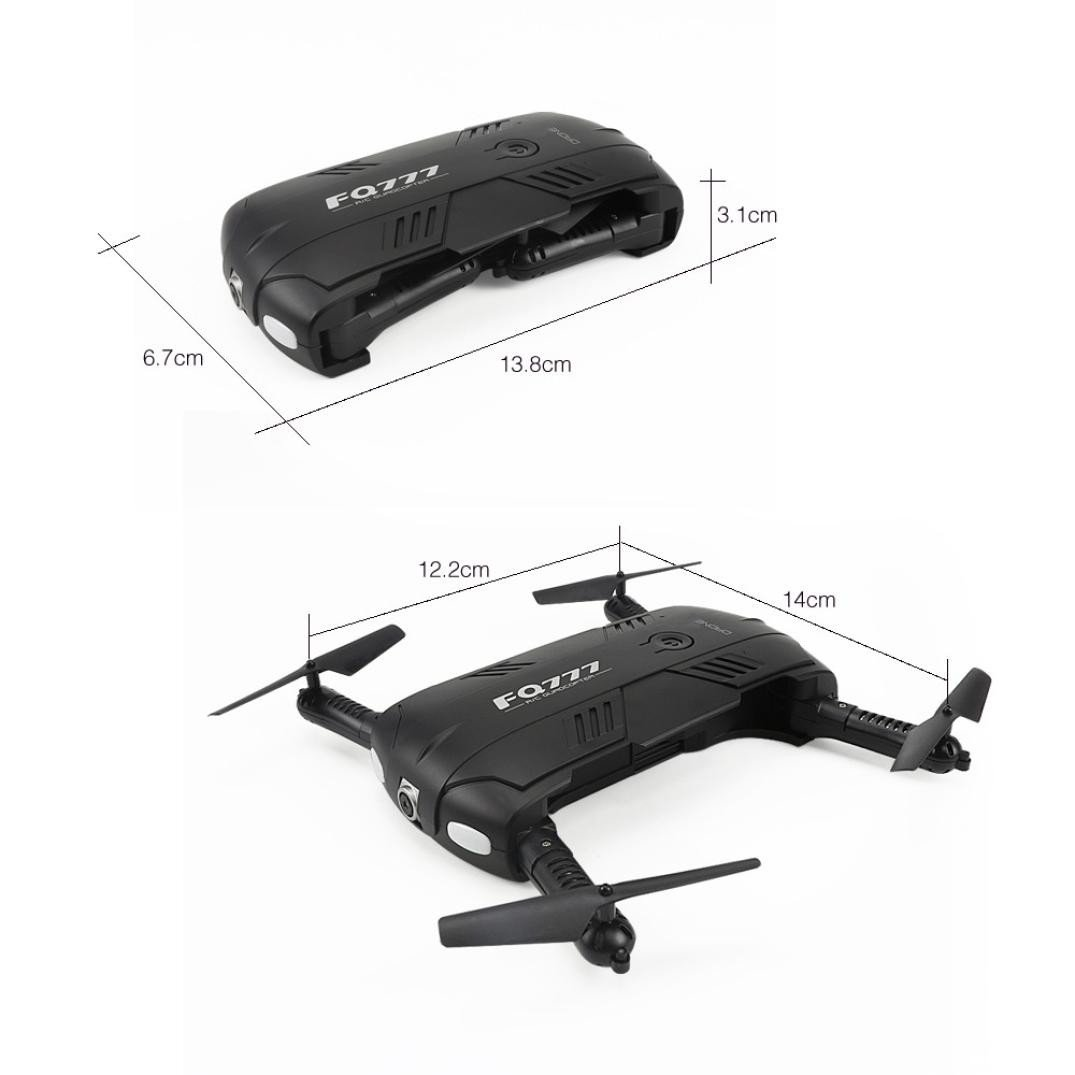 Choosebuy RC Drone with HD Camera, WiFi 2.0MP Camera Live Feed FPV/One Key Return/Foldable Quadcopter/Headless Mode Toy Outdoor Gift for Beginners (Black) by Choosebuy (Image #6)