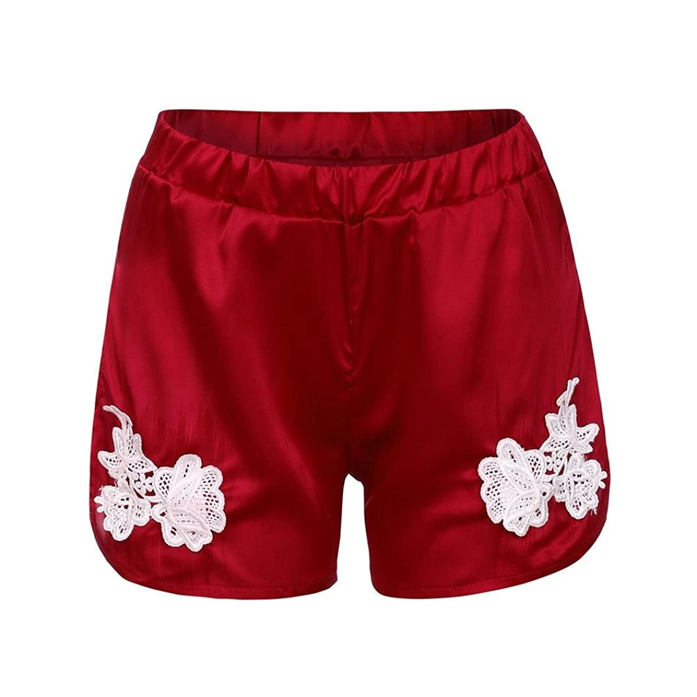 50baf7565316b5 URSING_Damen Sport Shorts Retro Shorts Aktiv Yoga Shorts Hose Badeshorts  Boardshorts Strandshorts Beach Shorts Kurz Lässige