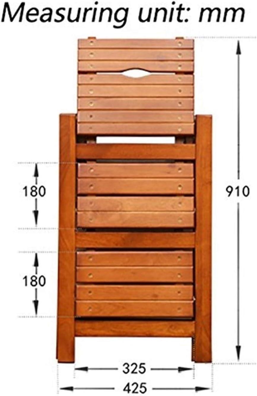 GYX Escalera de mano Pasos pr/ácticos de madera Silla de escalera de 3 escalones Biblioteca ligera para el hogar Taburete de escalera